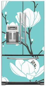 Wonderful Seamless Magnolias Magnetic French Door Refrigerator Covers | Magnolias  Magnet Skins, Covers And Panels Are