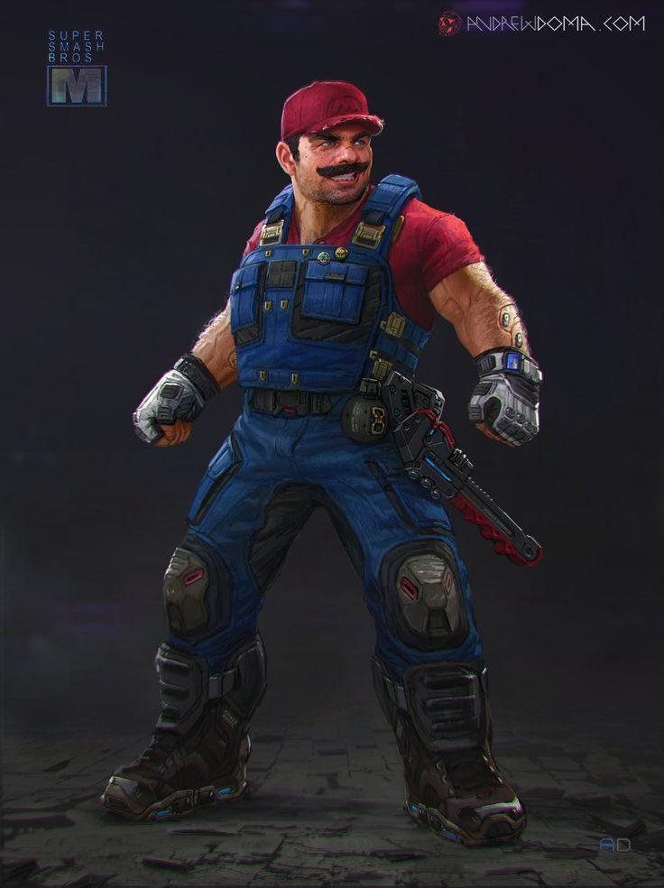 Mario - Super Smash Bros XPS, Andrew Doma on ArtStation at http://www.artstation.com/artwork/mario-super-smash-bros-xps