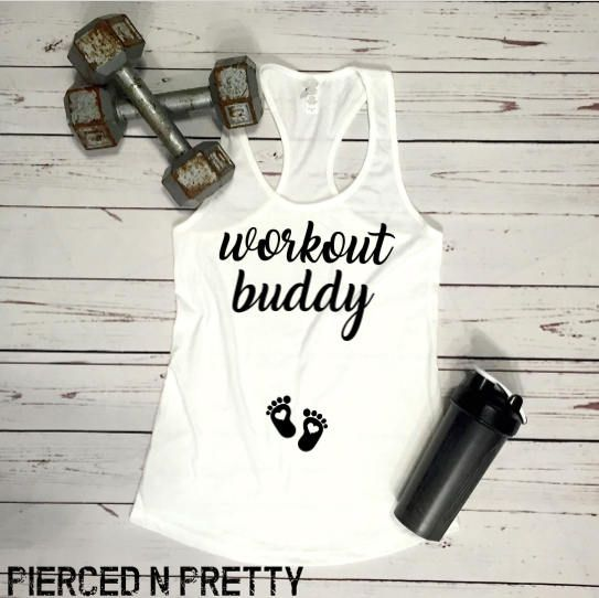 Workout Buddy REGULAR Fitting Racerback Tank The SOFTEST tank for your growing b… – Someday Soon!