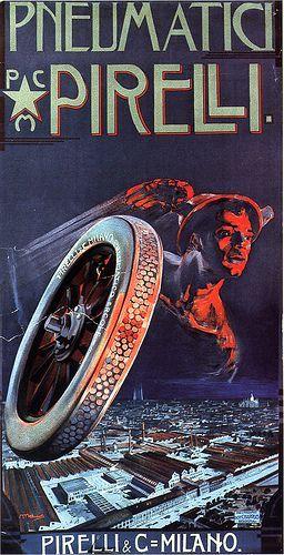 1910 Pirelli Poster - Pneumatic Pirelli