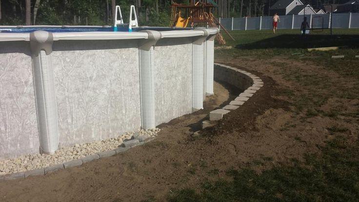 New Small Retaining Wall Around Ag Pool Etc Pinterest Small Retaining Wall Retaining