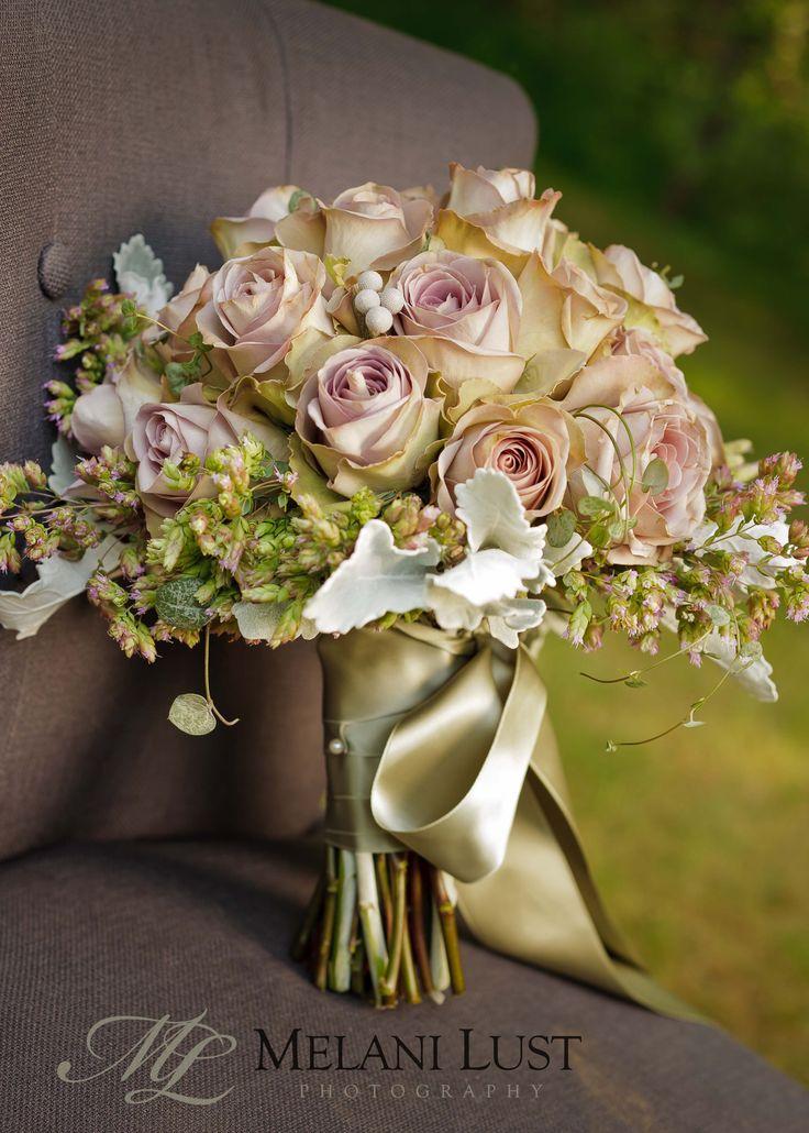 Soft roses w/sage ribbon by Erin Ostreicher, Westport, CT ©MelaniLustPhotography