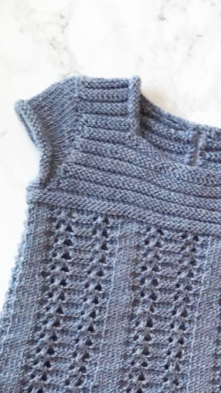 Girl dress. Knitting.