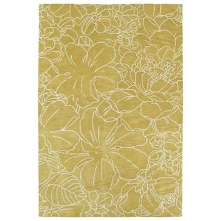Shop for Hand-Tufted Seldon Yellow Floral Stencil Rug (9' x 12'). Get free shipping at Overstock.com - Your Online Home Decor Outlet Store! Get 5% in rewards with Club O! - 18767215