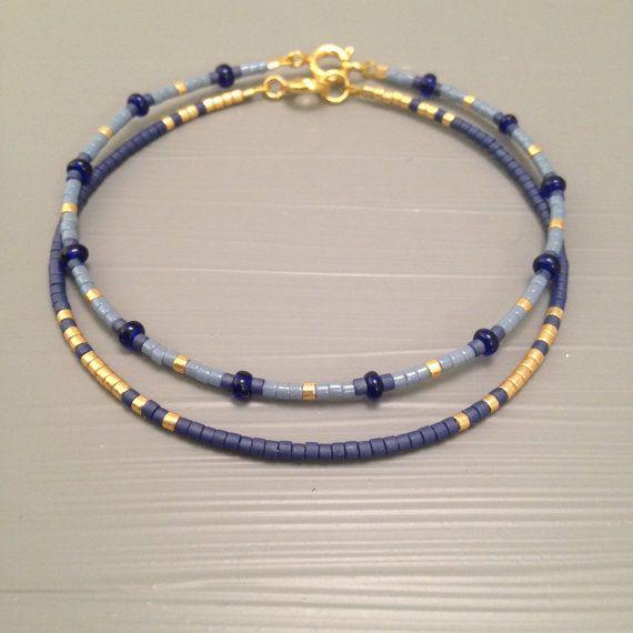 Zarte Perlen Armband zarte Armband Set von zwei von ToccoDiLustro