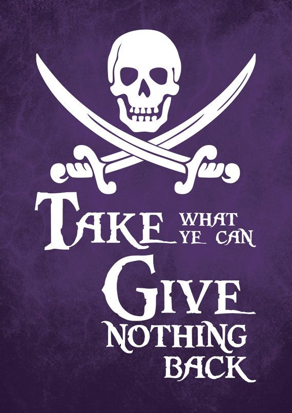 "maybe we'll be the ""not-so much"" pirates since we are all about serving others and giving it all back!"