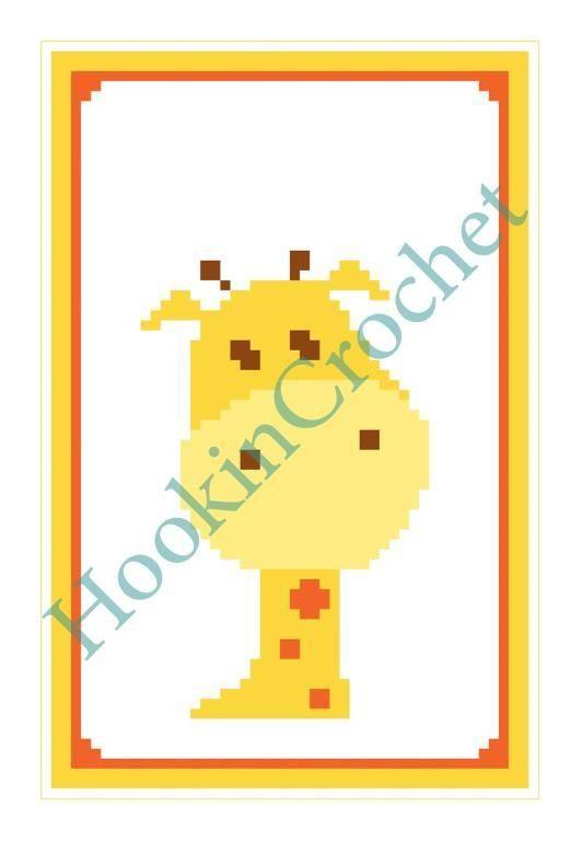 Baby Giraffe Cot Blanket Graph Pattern