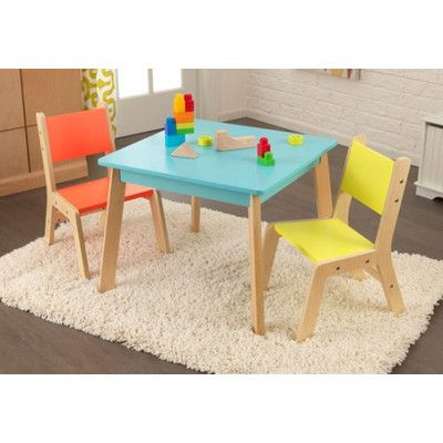 KidKraft Highlighter Kids 3 Piece Table and Chair Set