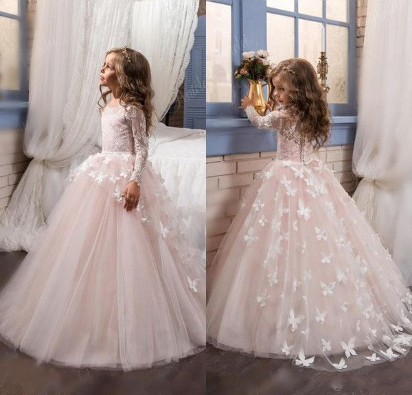 I found some amazing stuff, open it to learn more! Don't wait:http://m.dhgate.com/product/2017-blush-lace-long-sleeves-ball-gown-flower/392158963.html