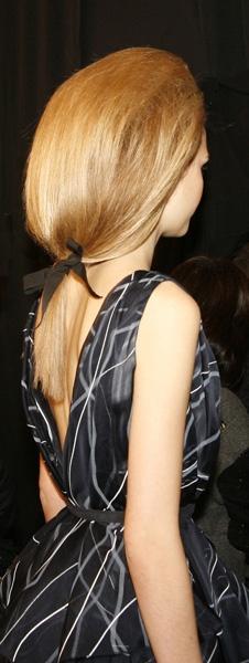 The Big Tease by Orlando Pita for Carolina Herrera Fall 2012 #ponytail