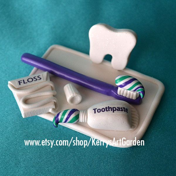 Dentist Polymer Clay Business Card Holder www.etsy.com/shop/KerrysArtGarden