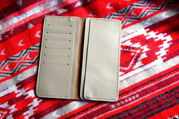 Leather Bifold Wallet / Long Wallet / Unisex by ShannaLeather