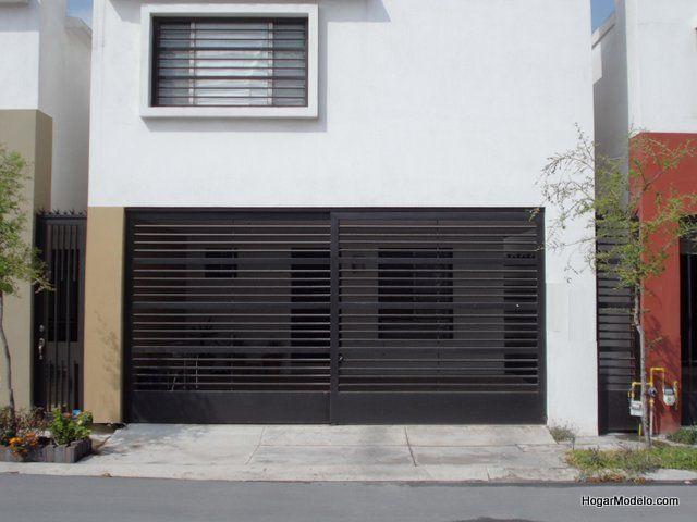 Port n de garage de herrer a prtones pinterest - Rejas de diseno moderno ...