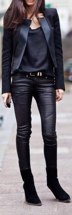 Everything Perfect Black Outfits , Specially New Leather Biker Pant.