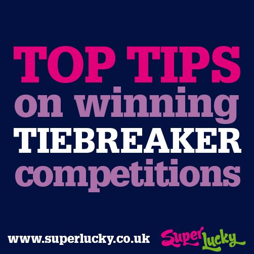 SuperLucky: Top Tips on Winning Slogan and Tiebreaker Competitions #compingtips