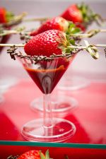 """Chocolate Foundue """"Mar-Teeny"""" with Skewered Strawberries #ashleyscreativecatering"""
