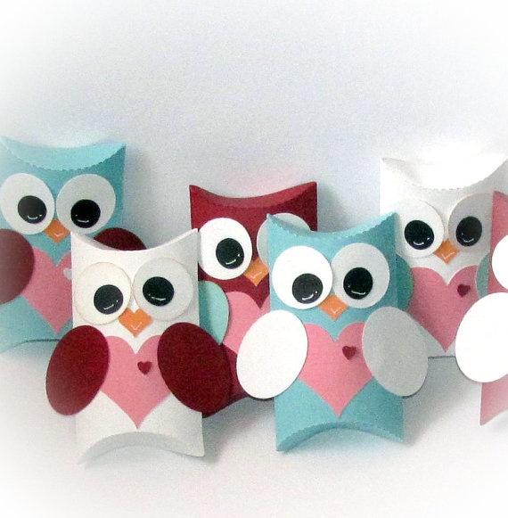 Cute Pillow Treats : Owl Love You Forever Valentine Pillow Gift Treat Boxes Valentine Pinterest Ideas, So cute ...