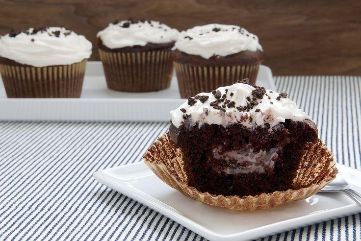 Cookies & cream filled cupcakes