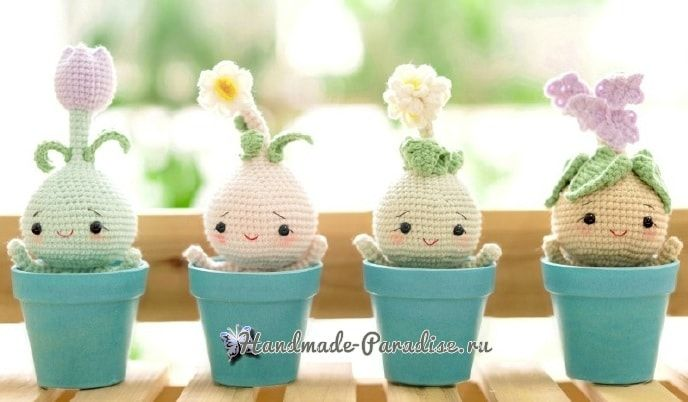 Bulbous flowers - amigurumi dolls (3)