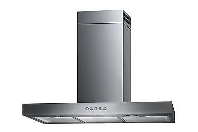 "Stainless Steel 30"" Range Hood Wall Mount 3 Speeds Kitchen Ventilation System"