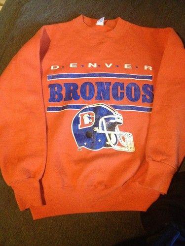 lowest price 83285 654c6 RARE Denver Broncos Vintage 1970s Sweatshirt Mens M | eBay ...