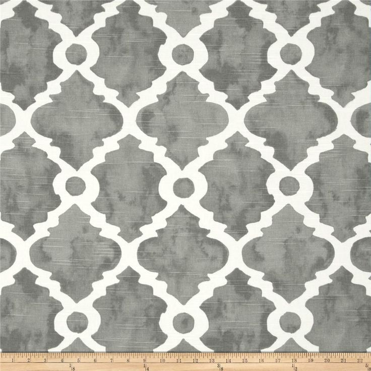 Premier Prints Madrid Slub Summerland Grey - large pattern