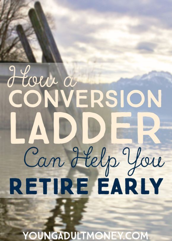 By planning to use an IRA conversion ladder in advance, you'll avoid that 10% tax, have access to your money, and be able to fund an early retirement.