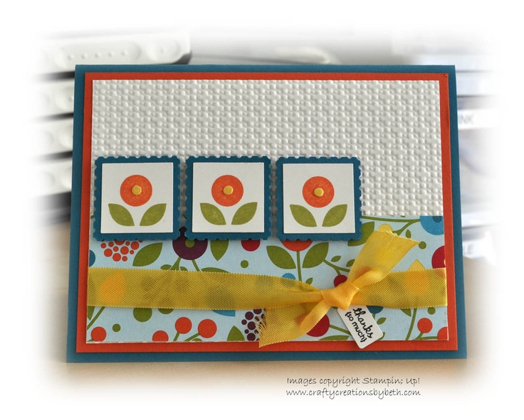 Crafty Creations by Beth: Same Layout - Different Colors: Cards Bright, Cards Ideas, Su Bright, Stampinup Cards, Summer Smooches, Bright Blossomssumm, Paper Crafts, Blossomssumm Smooches, Stampin Up Cards