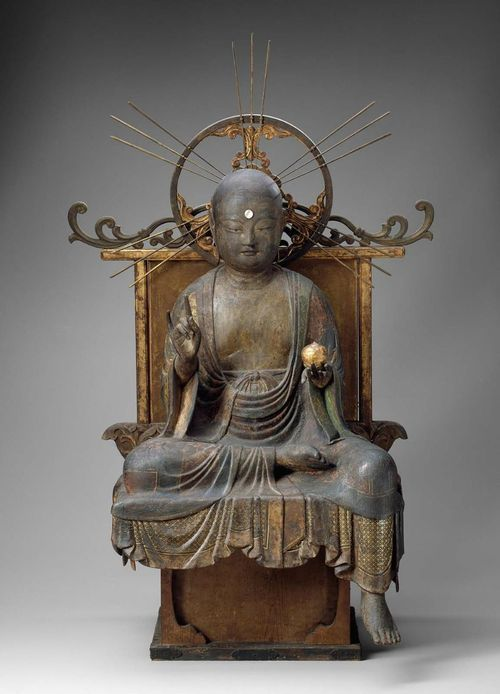 Jizo, the Bodhisattva of the Earth Matrix, made in Japan in the 12th century