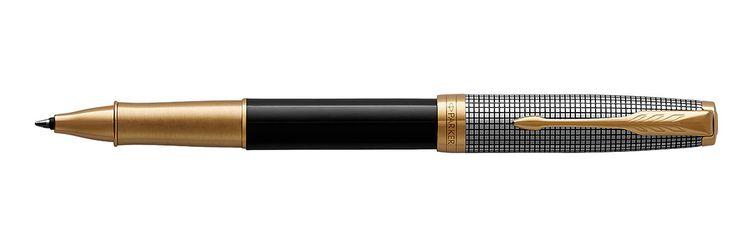 Parker Sonnet Sterling Black & Silver GT RB Rollerball Pen