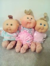 2006 Lot Of 3 Play Along Cabbage Patch Kid Dolls Preemie Baby Doll