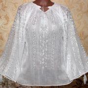 Маркизетовая блузка иней марлевка румунская блузка