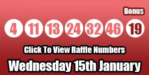 Here are the Lotto numbers for Wednesday 15th January to get the Lotto Raffle numbers please click here: http://lottorafflenumbers.com/lotto-results-15th-january/