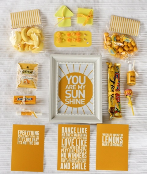 From make it perfect: .a little box of sunshine. I wish someone would send me one!!! So beautiful!