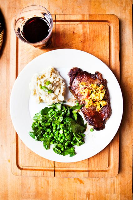 Hemsley & Hemsley: Steak With Cauliflower Mash Recipe (Vogue.com UK)