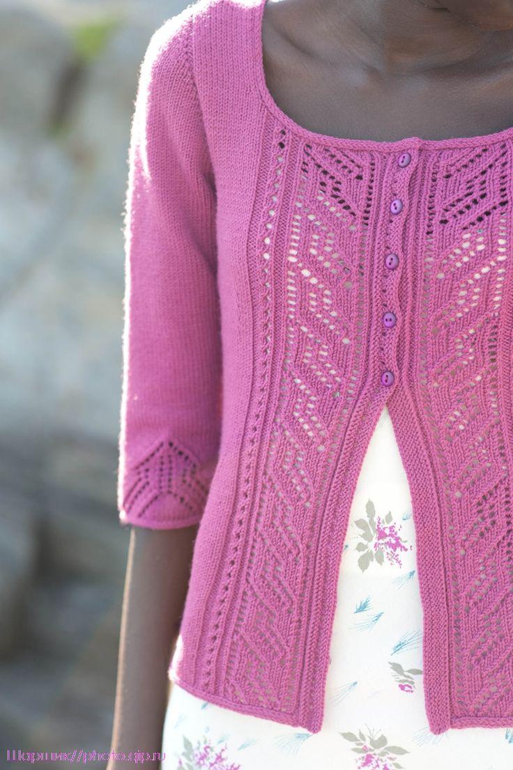 锦葵紫针织长袖开衫 - 蕾妮 - 蕾雨轩