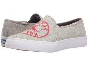 Keds Double Decker MLB Red Sox Jersey (Light Gray) Women's Slip on  Shoes