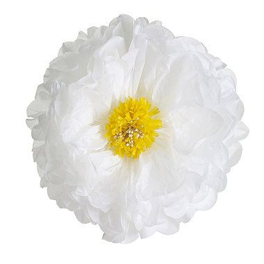 3 Paper Pompom Daisy Decorations - from Lakeland