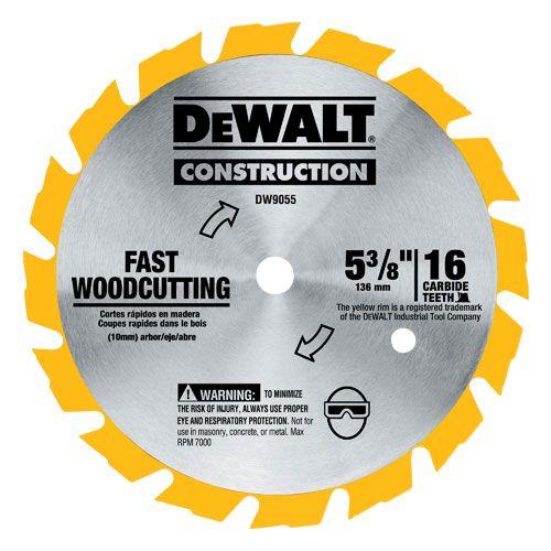 Dewalt Dw9055 5 3 8 Portable Construction Blade 16t Cordless In 2020 Circular Saw Blades Dewalt Circular Saw Cordless Circular Saw