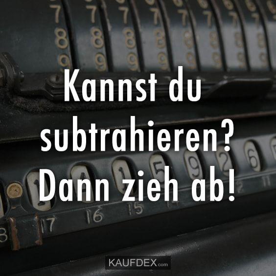 Kannst du subtrahieren?