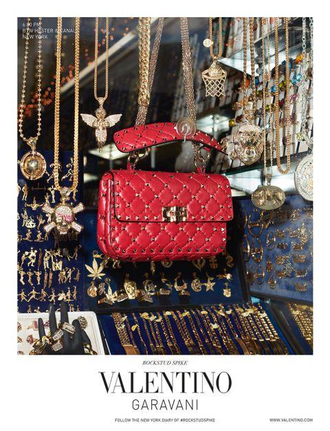 Valentino Garavani Rockstud Spike Bag campaign shot by Terry Richardson in New York