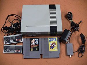 $44.99 | NINTENDO NES SYSTEM CONSOLE + 2 CONTROLLERS & GAMES MARIO 3  US  | Mens gift ideas