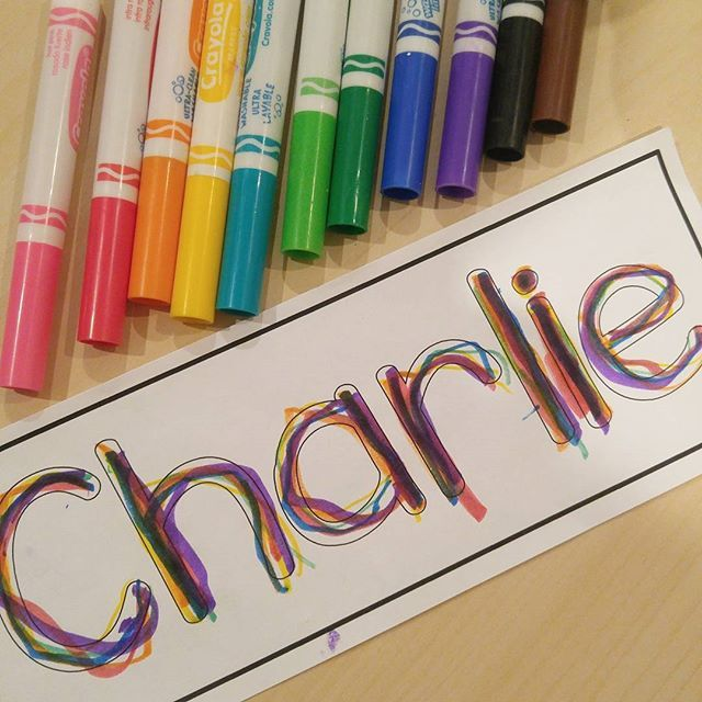 EDITABLE name writing freebie! Rainbow write, dot, sticker, or collage to practice name writing. For preschool, pre-k, and kindergarten.