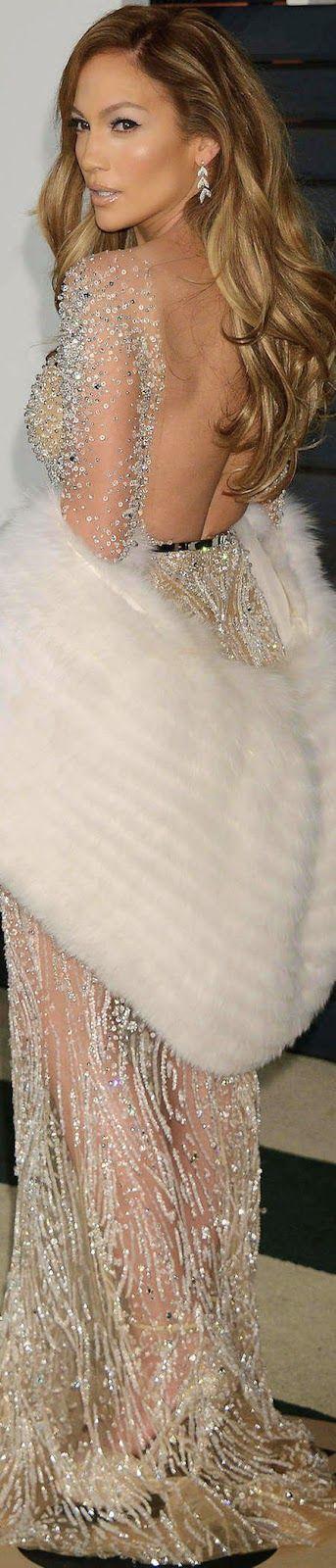 Jennifer Lopez in Zuhair Murad 2015 Vanity Fair Oscar Party