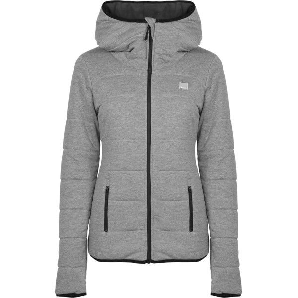 Bench Adventerously Reversible Zip Thru Jacket (195 BRL) ❤ liked on Polyvore featuring clearance and grey