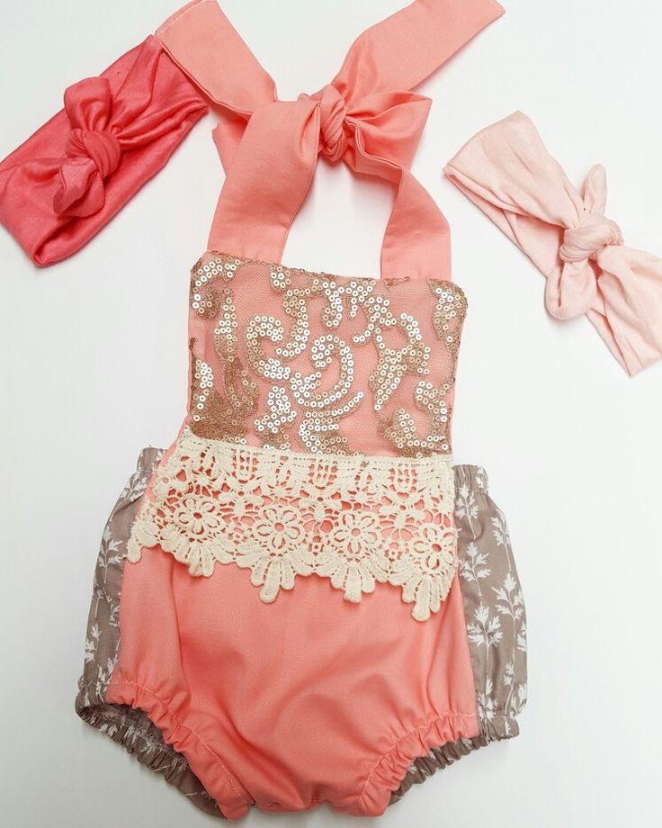 Reddies Craft romper handmade baby clothes