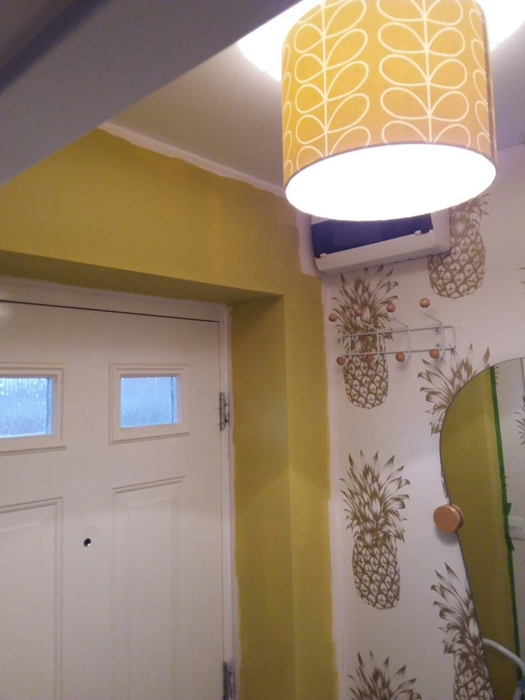 Pineapple wallpaper. Mustard walls. Orla kiely. Winning combinations! See what trend is next....