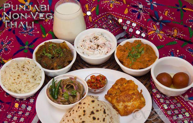 Punjabi non veg thali