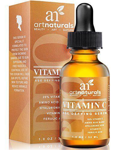 Vitamin C Hyaluronic Acid & Vit E Serum Anti Aging Wrinkle Natural Antioxidant #Antiaging