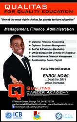 Full Time are Part Time Accredited Education in George. 044-873 5789